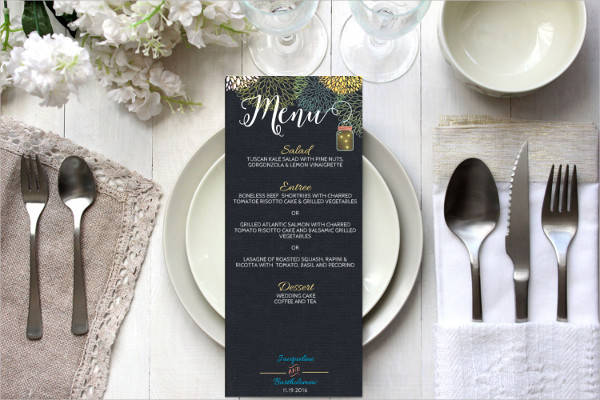diy chalkboard wedding menu