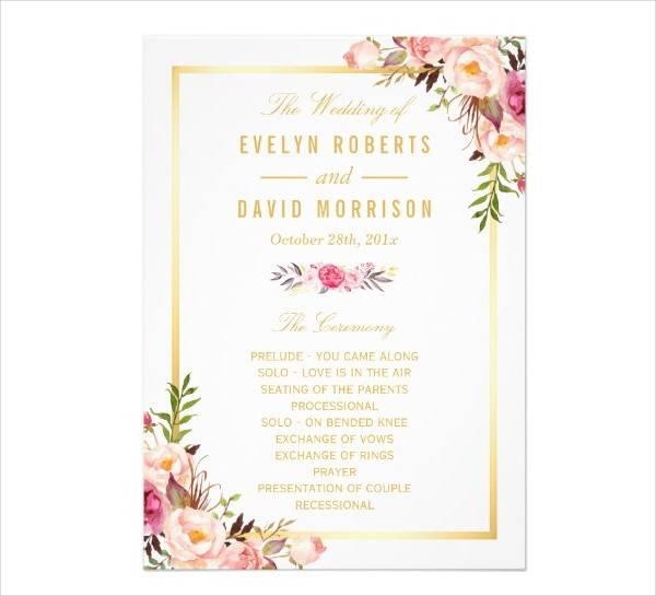 Diy Floral Wedding Invitation