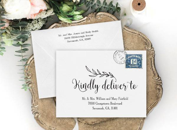 Diy Wedding Invitation Envelope