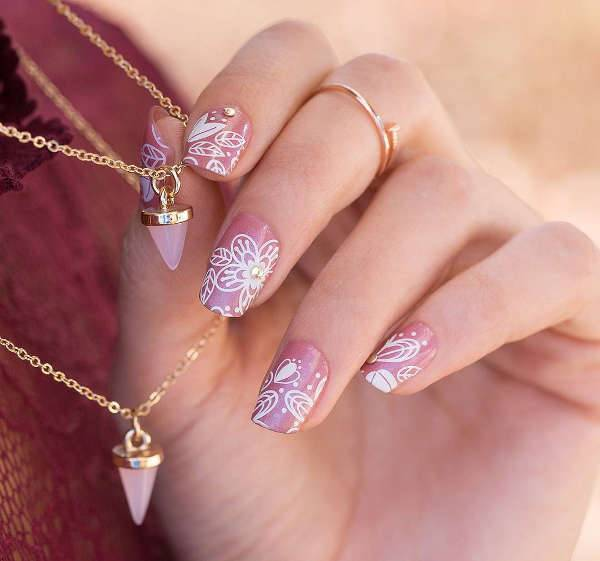diy wedding nail art design