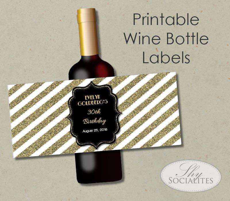Diy Champagne Labels Diy Wine Bottle Label Flash Card Gift Tag For