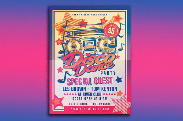 dj party event poster