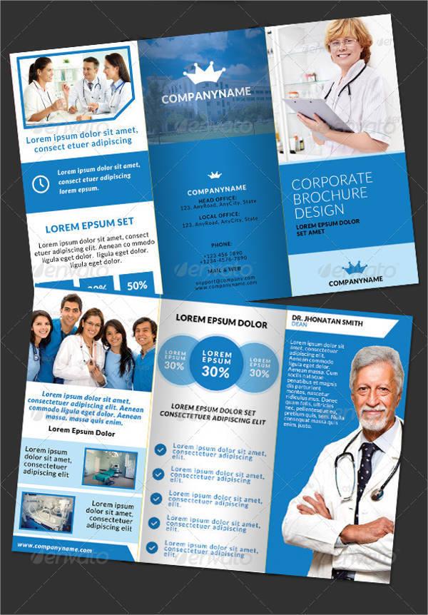 Doctor Medical Hospital Health Tri-Fold Brochure