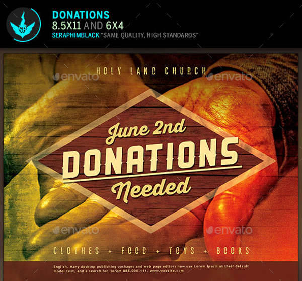 Donation Church Flyer
