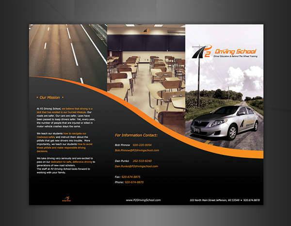 Driving School Brochure Design