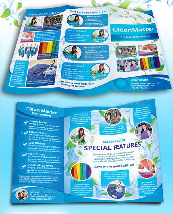 Eco Cleaning Service A4 Tri fold Brochure