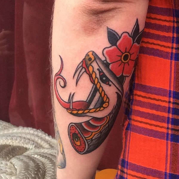 Elbow Forearm Tattoo