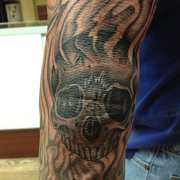 Elbow Skull Tattoo