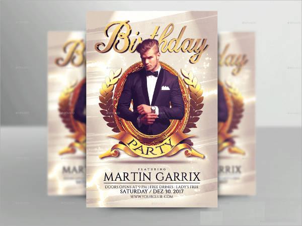 Elegant Birthday Party Flyer