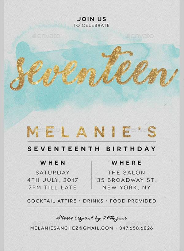 35+ Birthday Invitation Designs | Design Trends - Premium PSD ...