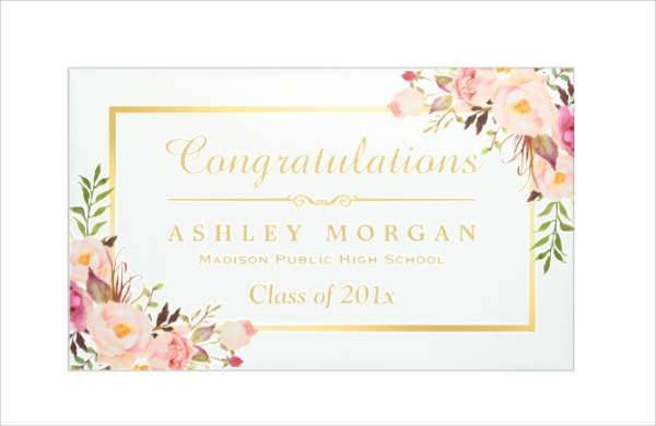 Elegant Chic Frame Graduation Banner
