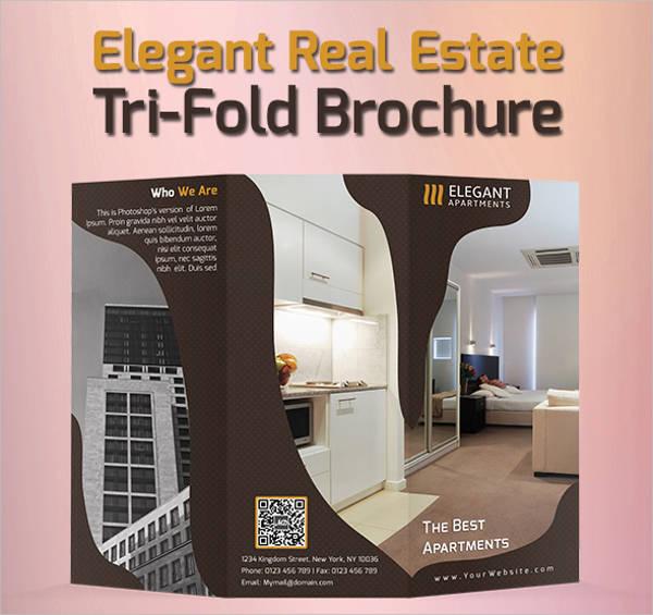 Elegant Tri-fold Real Estate Brochure
