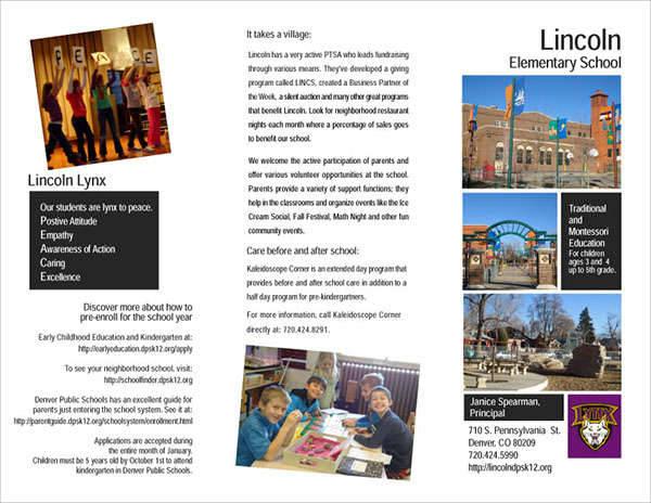 Elementary School Formal Brochure