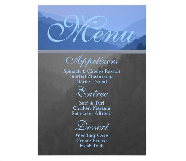 event party food menu