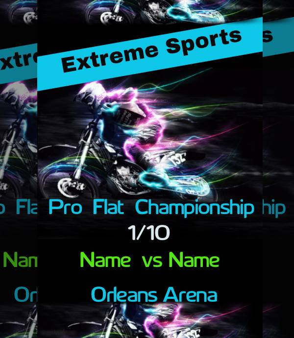 extreme sports event poster