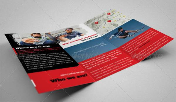Extreme Sports Event Trifold Brochure