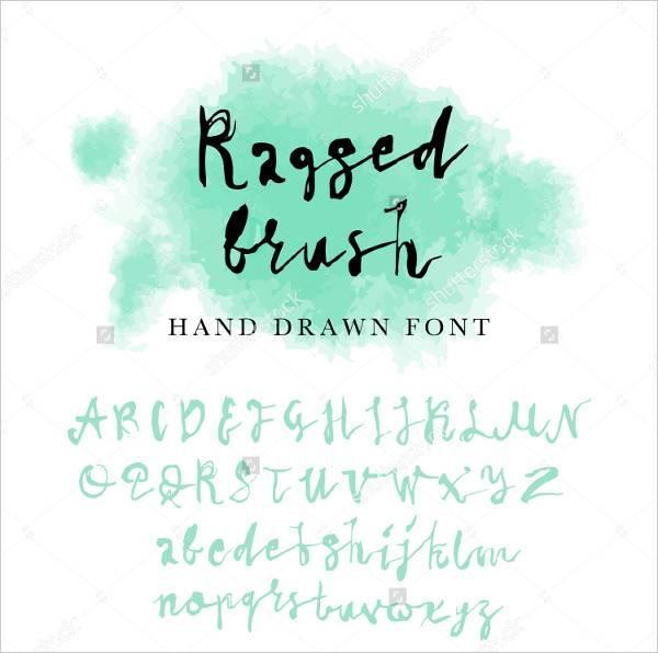 fancy handwritten typography font