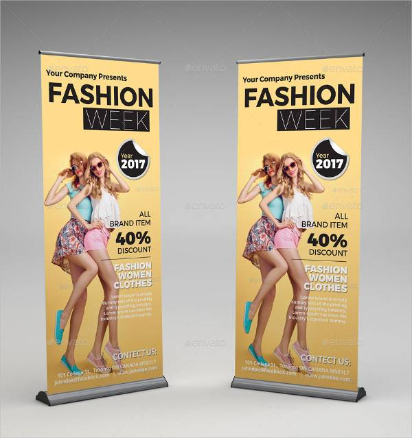 Fashion Roll Up Banner Signage