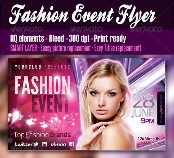 Fashion Show Event Flyer