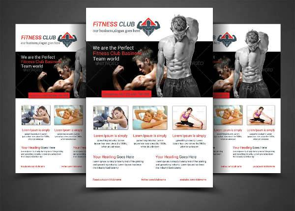 Fitness Center Template Flyer
