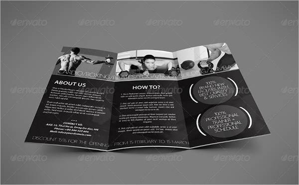 Fitness Center Tri-Fold Brochure
