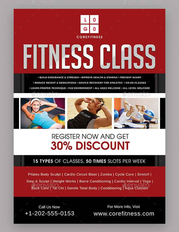 Fitness Class Promotional Flyer
