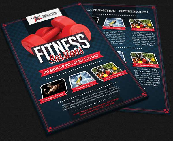 Fitness Gym Promotional Flyer