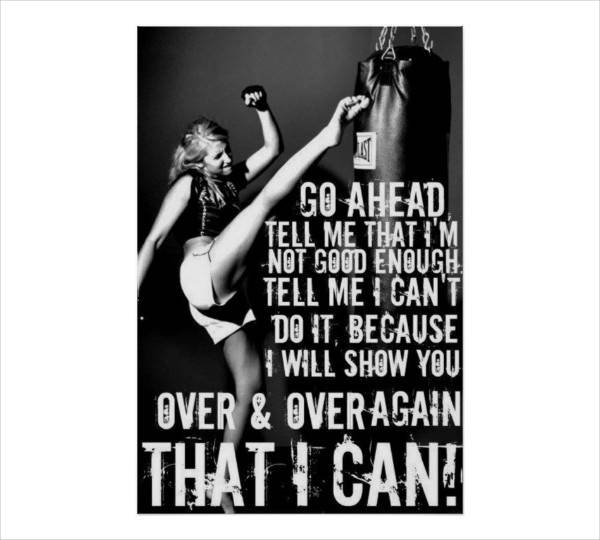 Fitness Gym Quote Poster