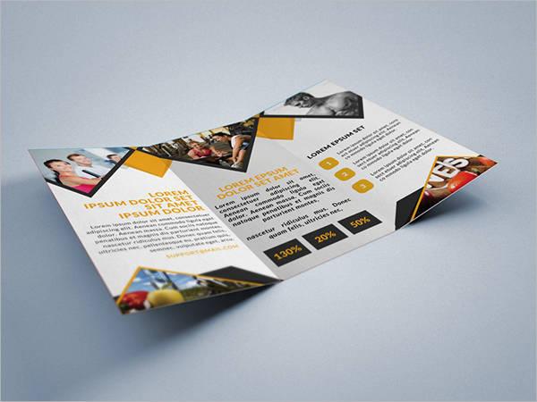 Fitness Gym Tri-Fold Brochure