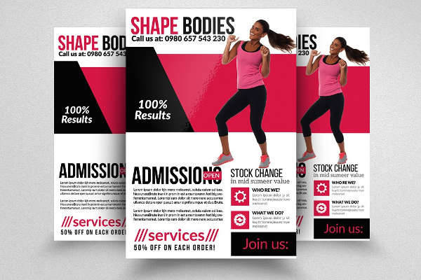Fitness Program Body Shape Flyer