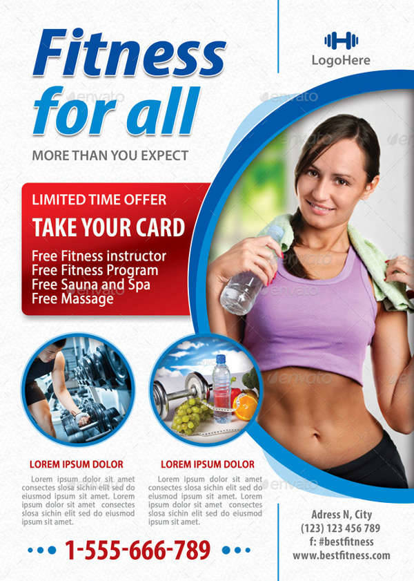 Fitness flyer designs design trends premium psd for Fitness brochure template