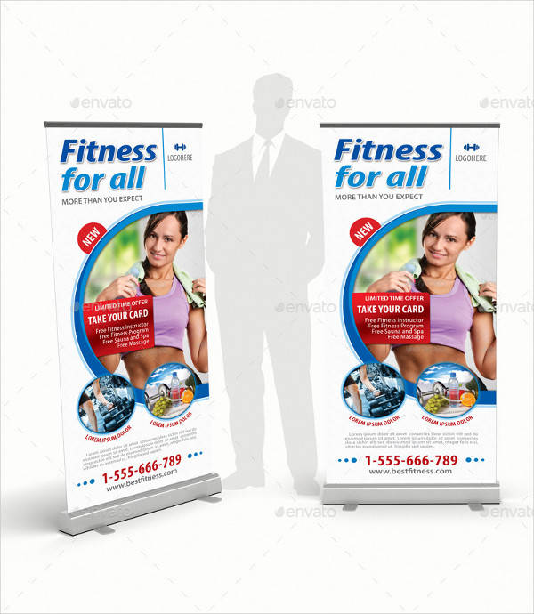 Fitness Program Rollup Banner