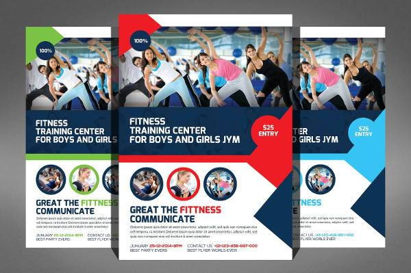 Fitness Training Center Sports Flyer