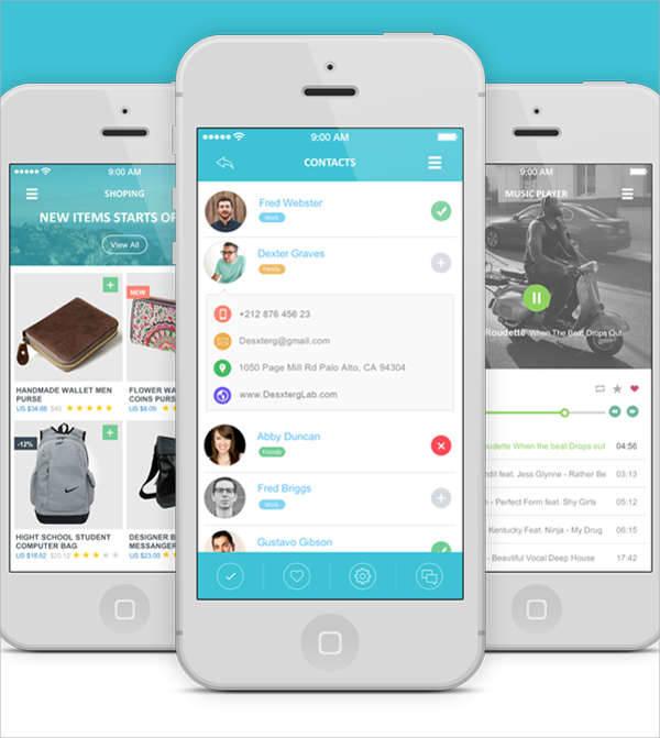 flat ui app design1