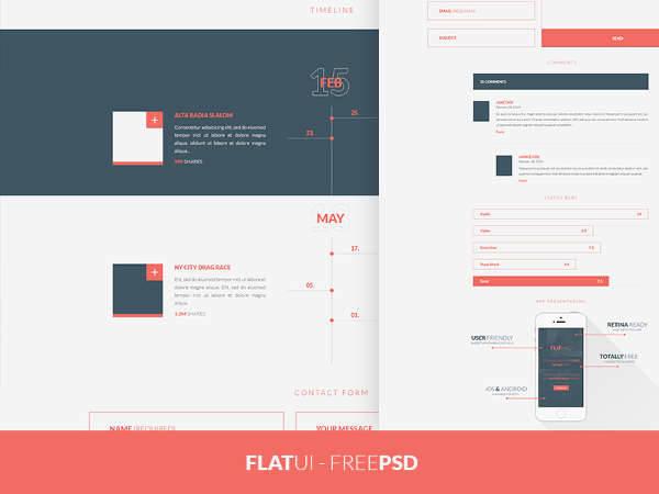 flat web ui design