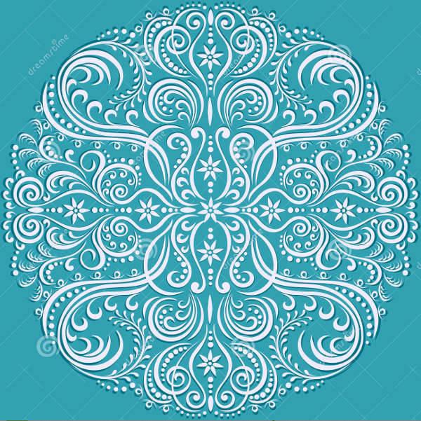 floral swirl pattern
