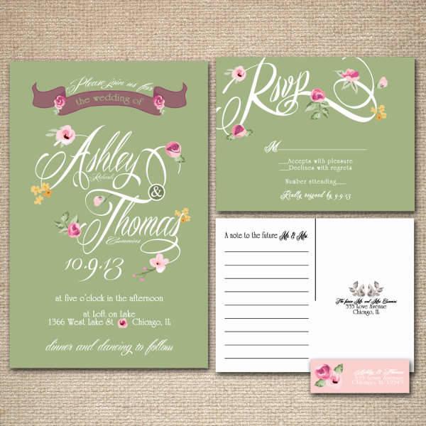 10 Vintage Wedding Invitations Printable PSD AI Vector EPS – Floral Vintage Wedding Invitations