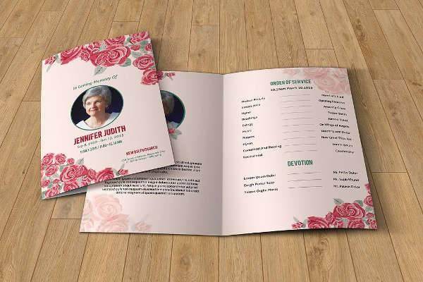 florist funeral brochure design
