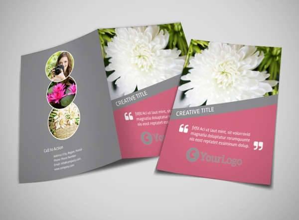 florist photography bifold brochure