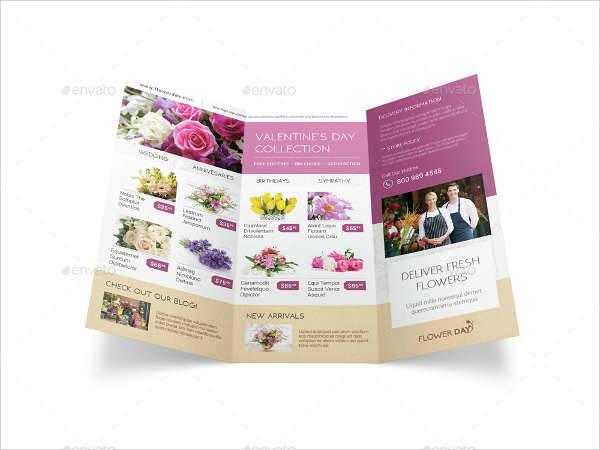 florist shop trifold brochure