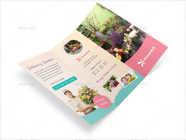 florist trifold brochure