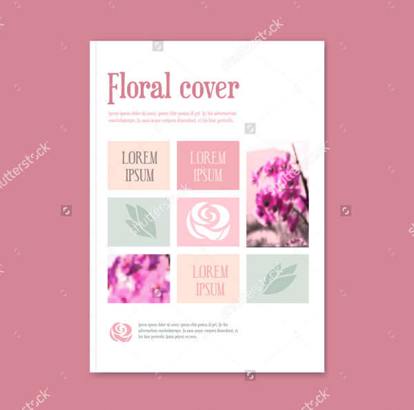 florist vector brochure