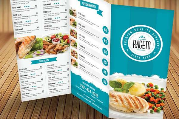 Food Menu Brochure