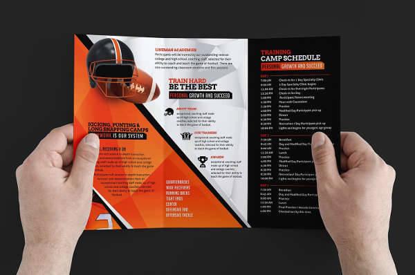 Football Camp Brochure Design