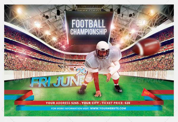 Football Championships Sports Flyer