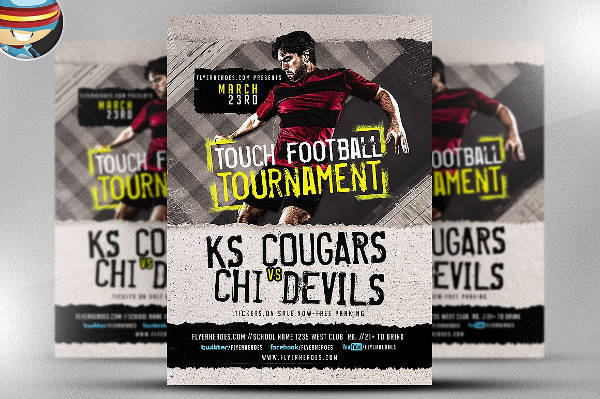 Football Tournament Sports Flyer
