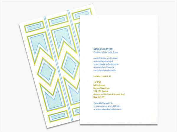 Formal Business Luncheon Invitation