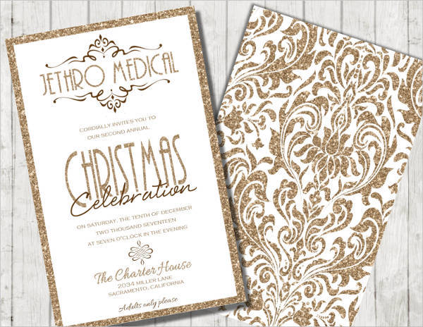 Formal Corporate Christmas Event Invitation