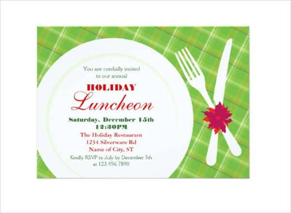 holiday lunch invitation
