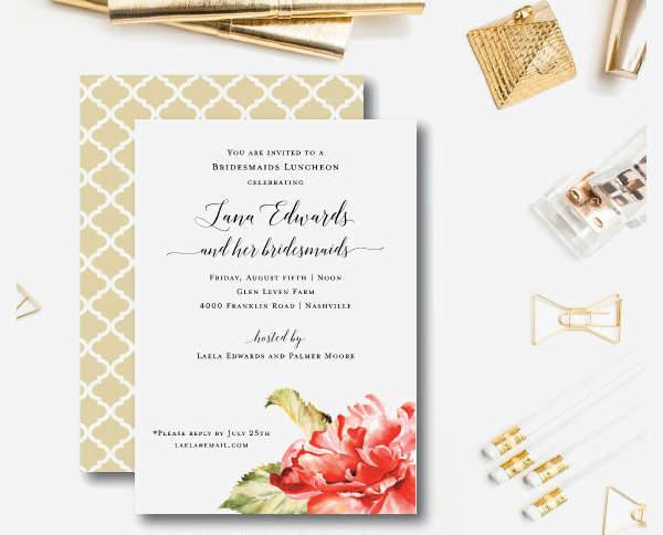 Formal Luncheon Invitation Card